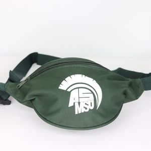 Vtg 90s Michigan State Spartans Fanny Pack Green
